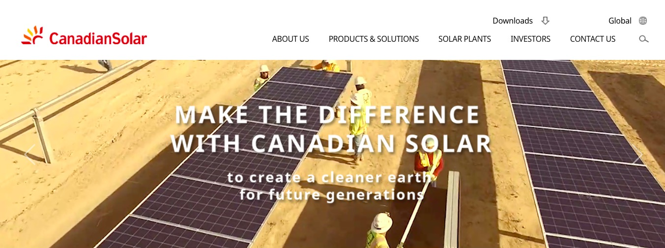 Canadian Solar home page