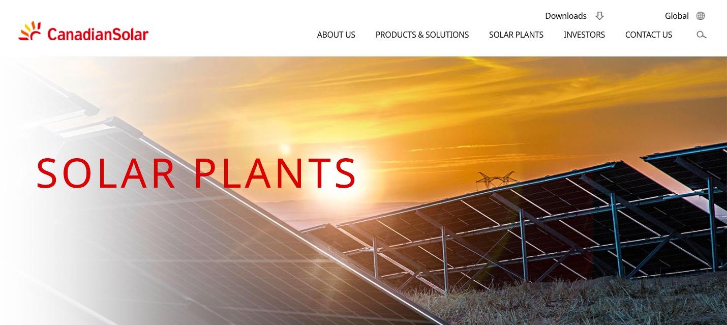 Canadian Solar plants