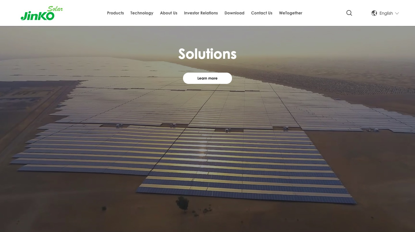 Jinko Solar Panels Solutions