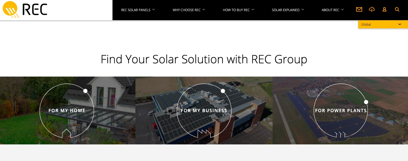 REC Solar Panels find your type