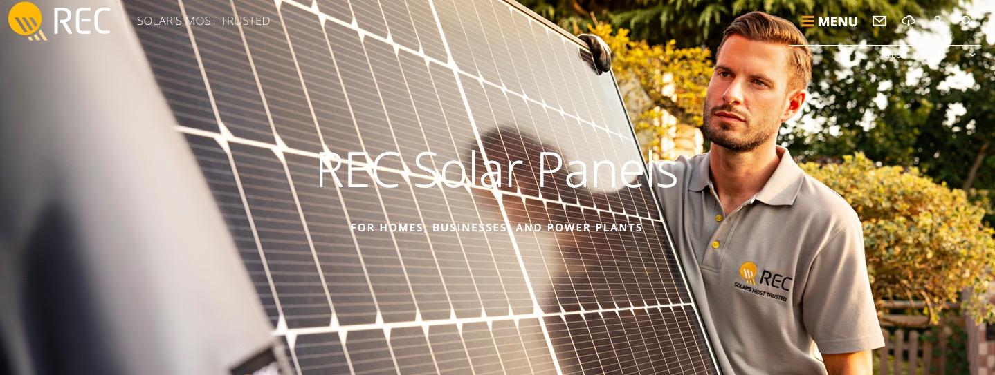 REC Solar Panels main page