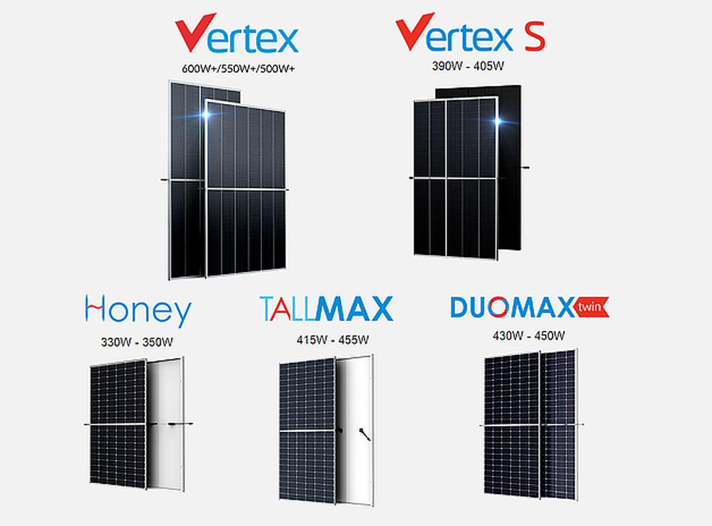 Trina Solar different types