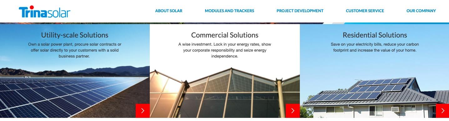 Trina Solar main page