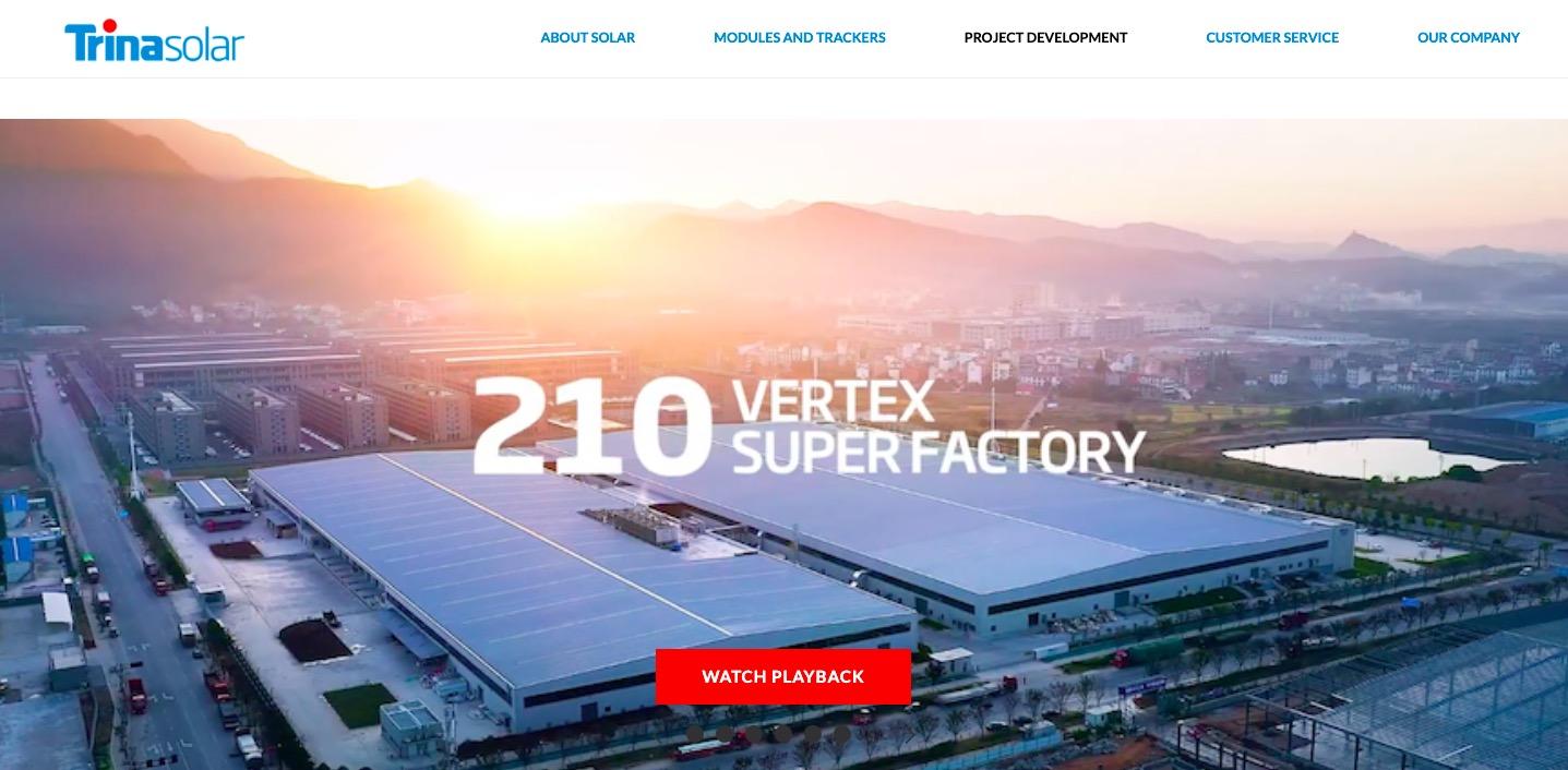 Trina Solar super factory