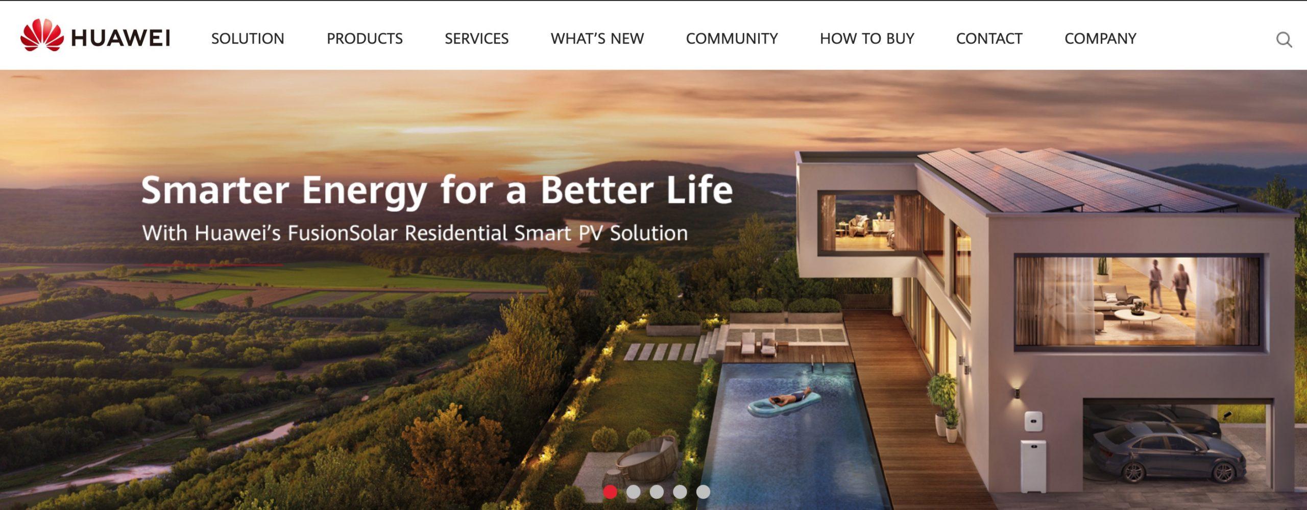 Huawei Solar main page