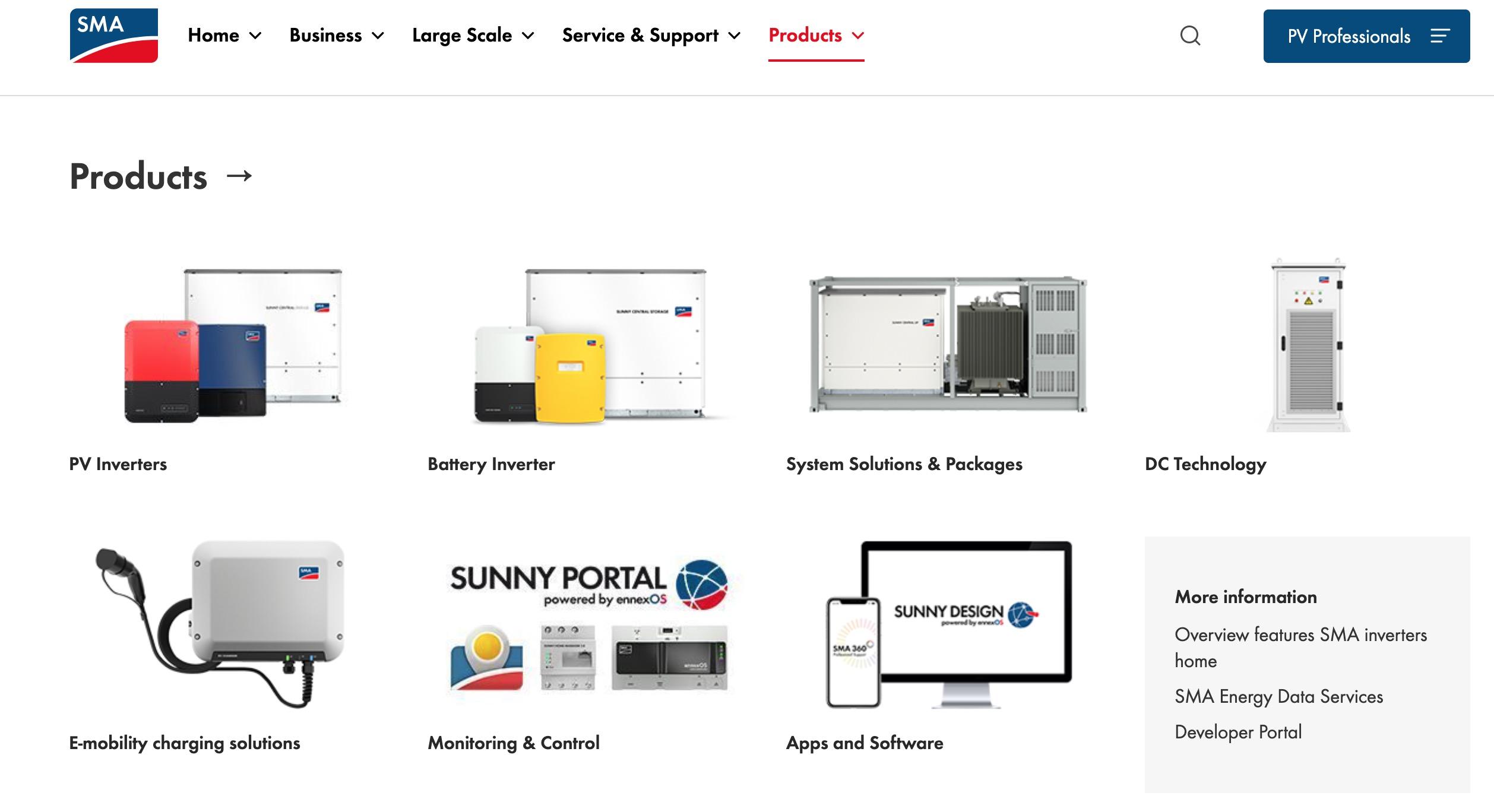 SMA Sunny Boy products