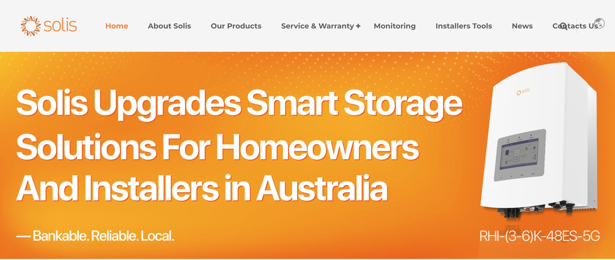 Solis Inverters main page