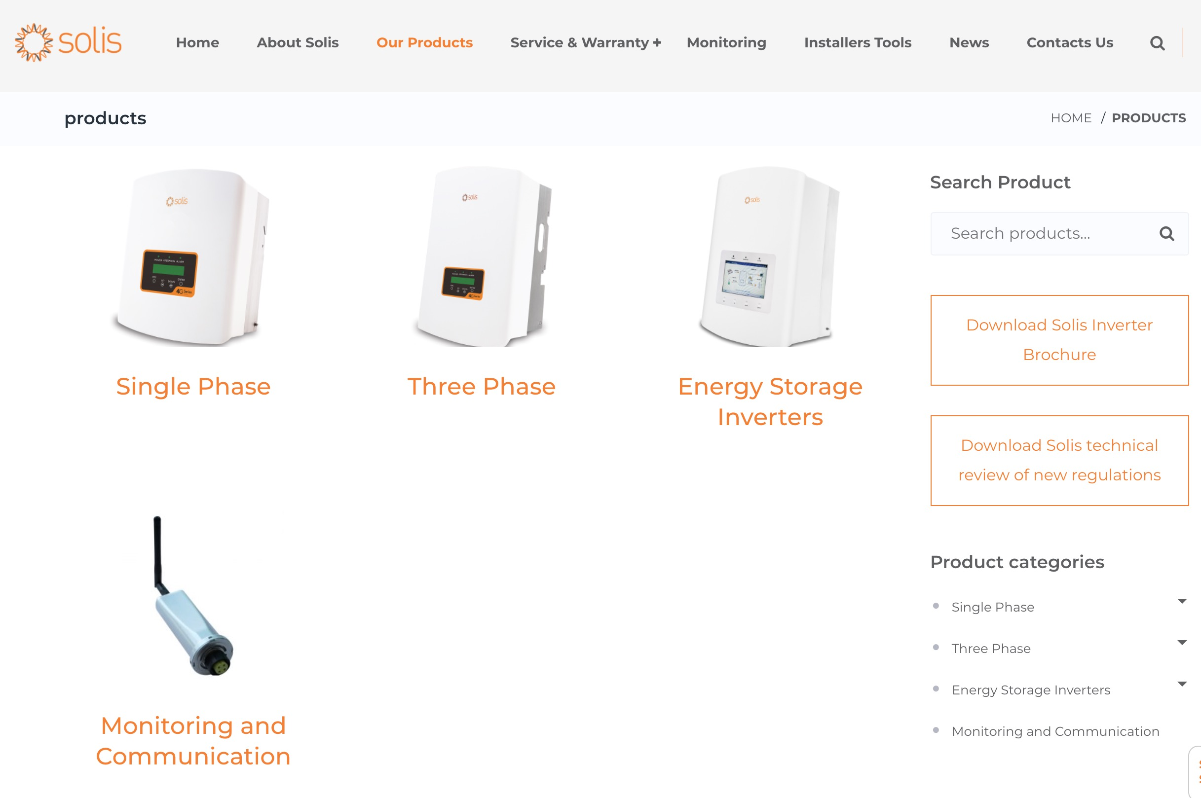 Solis Inverters products