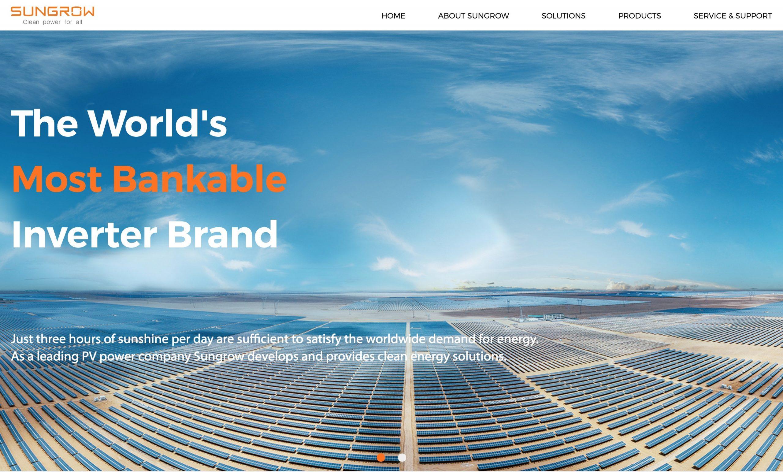 SunGrow main page